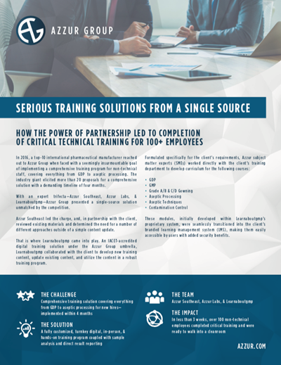 Serious Training Solutions from a Single Source