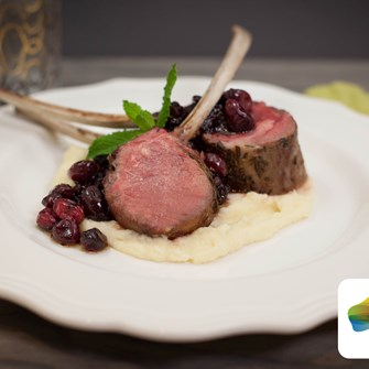 Barbecued Lamb Rib Chop with Celery Root & Parsnip Purée