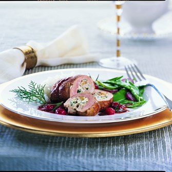 Blue Cheese-Stuffed Paupiettes of Veal with Port Sauce