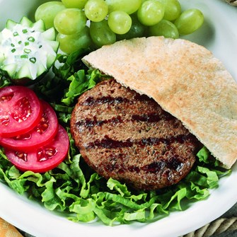 Gyro Burgers with Yogurt Sauce