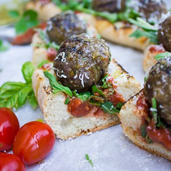 Meatball Subs on the Grill