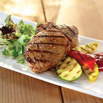 Veal Medallions with Montreal-Style Shallot Marinade