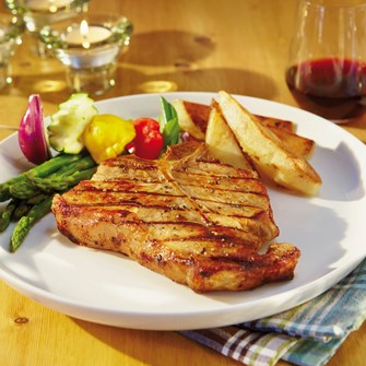 Veal Chops with Fresh Herb Marinade