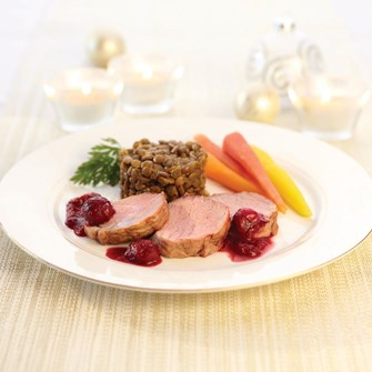 Veal Tenderloin with Cranberry Sauce