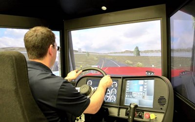 LCCC Offers Young Driver Classes Using TransSim VS5 Driving Simulator for Fall 2018
